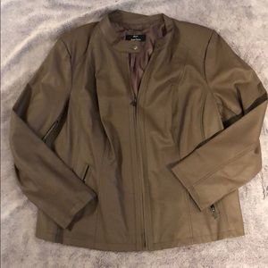 Dennis Basso Faux Leather Jacket